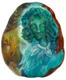 Ritratto leggiadramente di bello verde smeraldo di fantasia, fine variopinta su Fotografia Stock Libera da Diritti