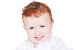 Ritratto luminoso del primo piano del neonato adorabile Fotografie Stock
