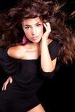 Ritratto lungo di bellezza dei capelli Immagini Stock Libere da Diritti