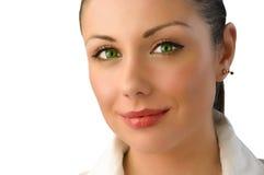 Ritratto magico della donna di affari degli occhi verdi Immagini Stock Libere da Diritti