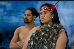 Ritratto maori indigeno della Nuova Zelanda fotografia stock libera da diritti