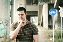 Ritratto maschio all'aperto Fotografia Stock Libera da Diritti