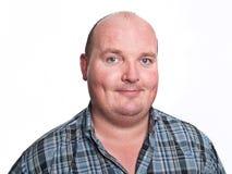 Ritratto maschio casuale del fronte su bianco fotografie stock