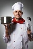Ritratto maschio del cuoco unico Fotografia Stock Libera da Diritti