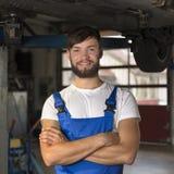 Ritratto maschio del meccanico di automobile Immagini Stock