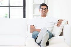 Ritratto maschio indiano bello Immagini Stock Libere da Diritti