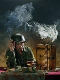 Ritratto militare 1 Fotografie Stock Libere da Diritti