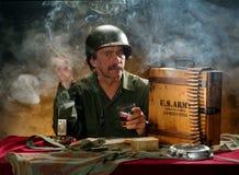 Ritratto militare 2 Fotografia Stock Libera da Diritti