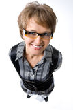 Ritratto in modo divertente della donna di affari Fotografie Stock