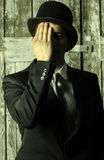 Ritratto nascosto Fotografia Stock