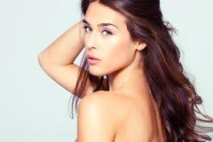 Ritratto naturale della donna di bellezza fotografia stock