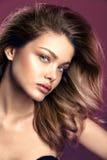 Ritratto naturale della donna di modo di bellezza Immagine Stock Libera da Diritti