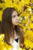 Ritratto nel parco di autunno Fotografia Stock