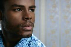 Ritratto nero sveglio del giovane dell'afroamericano Fotografia Stock