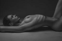 Ritratto nudo della donna Immagine Stock Libera da Diritti