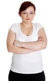 Ritratto offensivo della donna Fotografie Stock