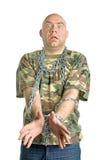 Ritratto pazzesco dell'uomo Fotografia Stock Libera da Diritti