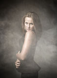 Ritratto piacevole della ragazza fotografia stock