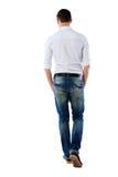 Ritratto posteriore di vista di un uomo fotografia stock