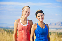 Ritratto sano delle donne di forma fisica Fotografia Stock