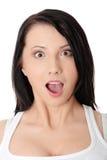 Ritratto scosso della donna Fotografie Stock