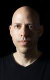 Ritratto scuro di un uomo Fotografia Stock