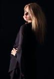 Ritratto scuro elegante fotografia stock