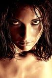 Ritratto selvaggio della donna Immagini Stock