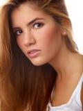 Ritratto semplice di bella ragazza Immagini Stock Libere da Diritti