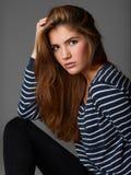 Ritratto semplice di bella ragazza Immagine Stock Libera da Diritti