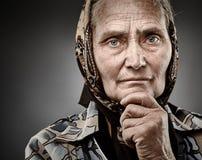 Ritratto senior della donna Fotografie Stock