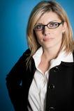 Ritratto serio della donna di affari Fotografia Stock Libera da Diritti