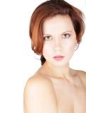 Ritratto serio della donna di bellezza Immagini Stock Libere da Diritti