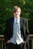 Ritratto sicuro teenager dello smoking Fotografia Stock