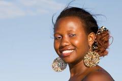 Ritratto sorridente attraente della donna Immagine Stock Libera da Diritti