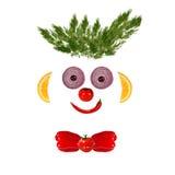 Ritratto sorridente dell'uomo fatto delle verdure e della frutta Immagini Stock Libere da Diritti