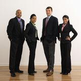 Ritratto sorridente di affari. Fotografia Stock Libera da Diritti