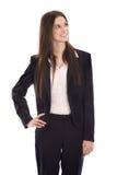Ritratto sorridente di giovane riuscita donna di affari sorridente Fotografie Stock Libere da Diritti