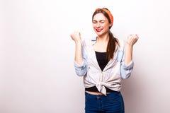 Ritratto sorridente a trentadue denti della donna di affari Immagine Stock Libera da Diritti