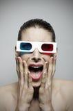 Ritratto spaventato della donna Fotografia Stock Libera da Diritti