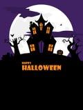 Ritratto spettrale della casa di Halloween Fotografia Stock
