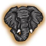 Ritratto stilizzato dell'illustrazione dell'elefante africano Fotografie Stock Libere da Diritti