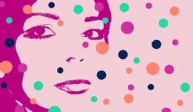 Ritratto stilizzato della donna Fotografia Stock Libera da Diritti