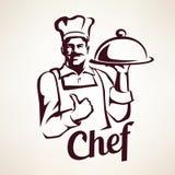 Ritratto stilizzato di vettore del cuoco unico Immagine Stock