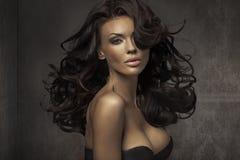 Ritratto stupefacente della donna sensuale immagini stock libere da diritti