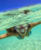 Ritratto subacqueo di Yong Woman Fotografia Stock