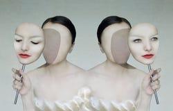 Ritratto surreale Fotografia Stock