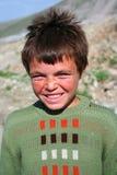 Ritratto sveglio del ragazzo povero Fotografia Stock