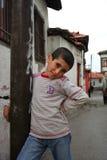 Ritratto sveglio del ragazzo povero Fotografia Stock Libera da Diritti