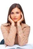 Ritratto sveglio dell'allievo femminile Immagini Stock Libere da Diritti